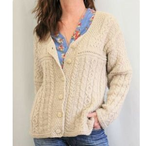 NWT Inis Crafts Ireland Wool Button Down Sweater